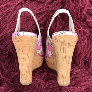 Coach Shoes - Coach Gwynnie Soho Cork Wedge in Multi Pink